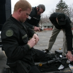 SWAT team prepping for exercises