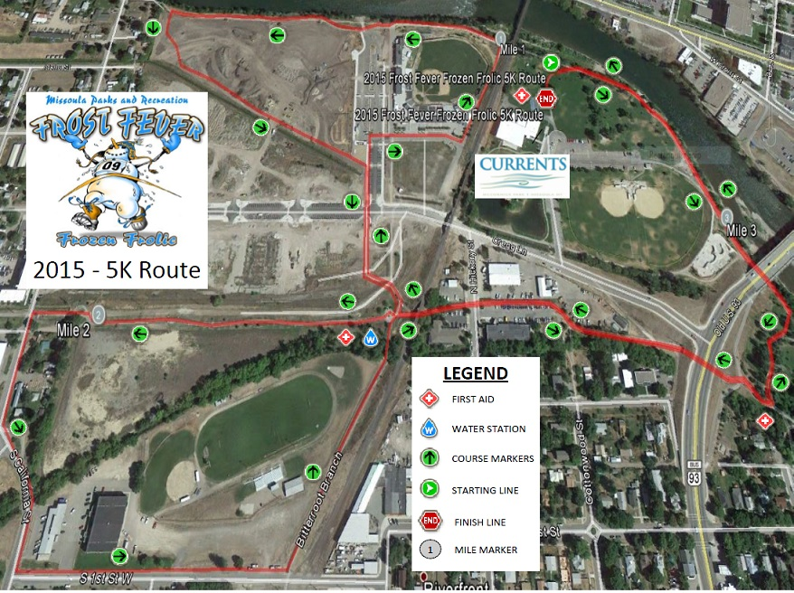 Frost Fever 5K Route