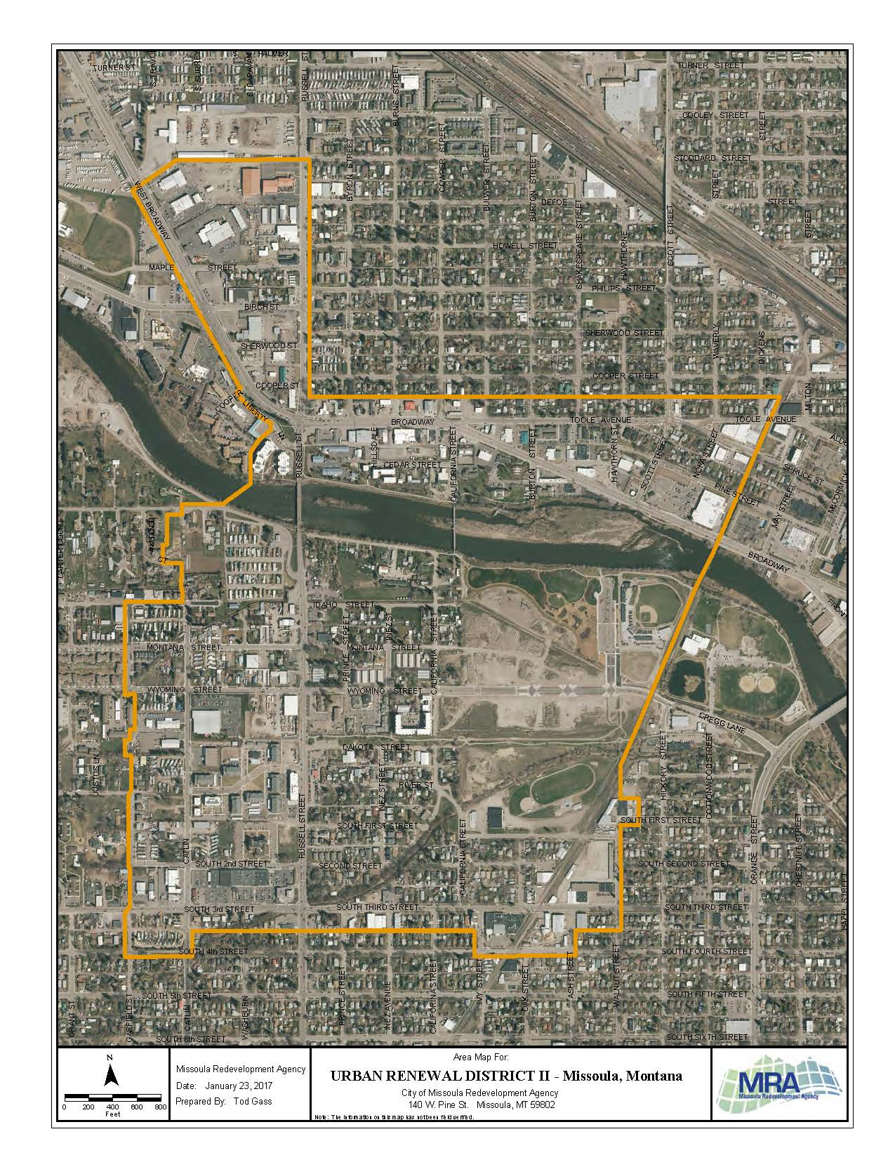 Map of Urban Renewal District II