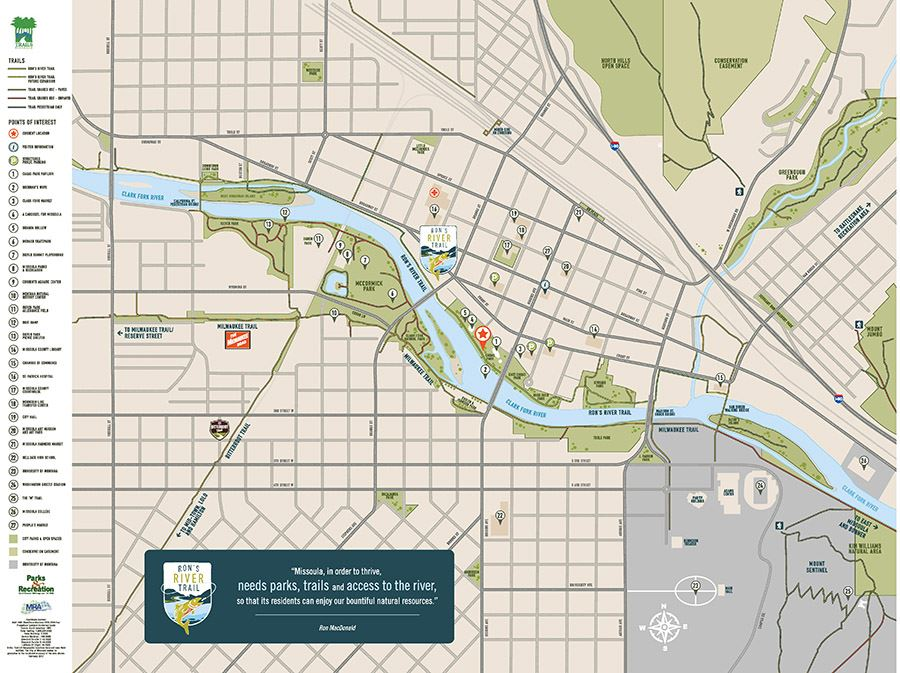 Riverfront Trails Missoula MT Official Website - Missoula mt us map