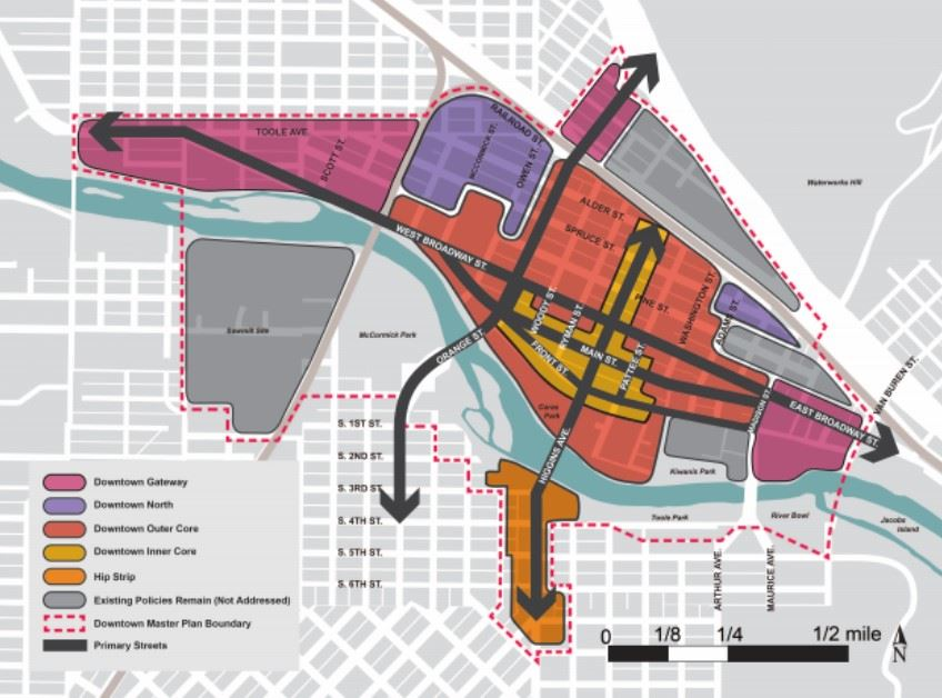 Map of Downtown SubDistrict in Design Excellence Project
