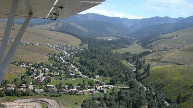 View of Missoula from plane