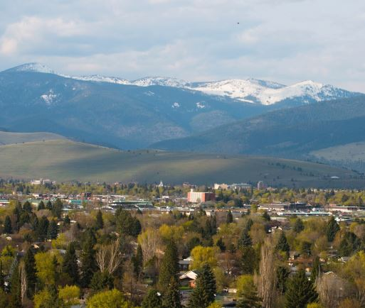 View of Missoula from south hills