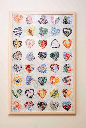 Heart Institute Wall of 100 Hearts