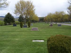 View of cemetery grounds in B Blocks