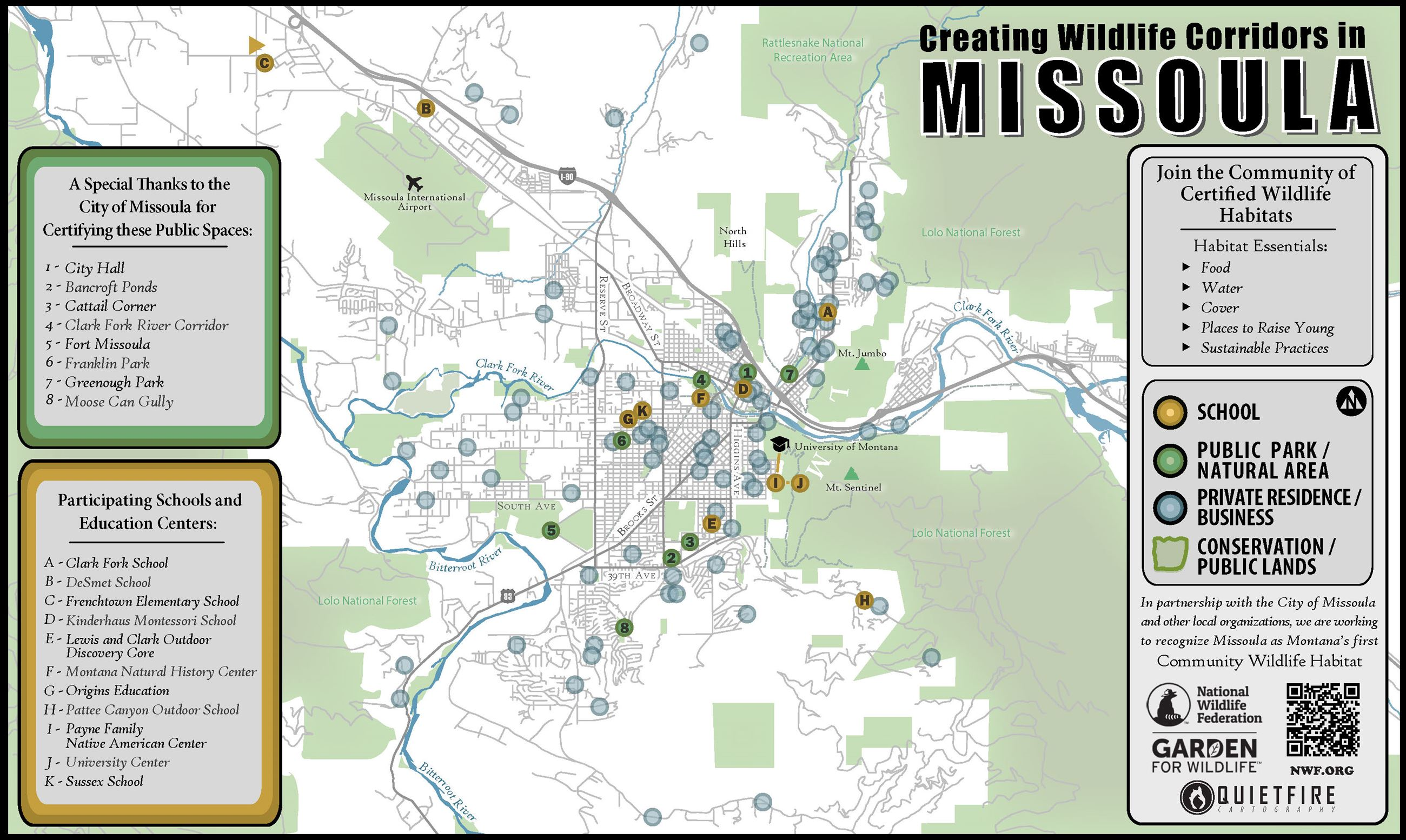 Missoula Community Wildlife Habitat Initiative Missoula MT - Missoula mt us map