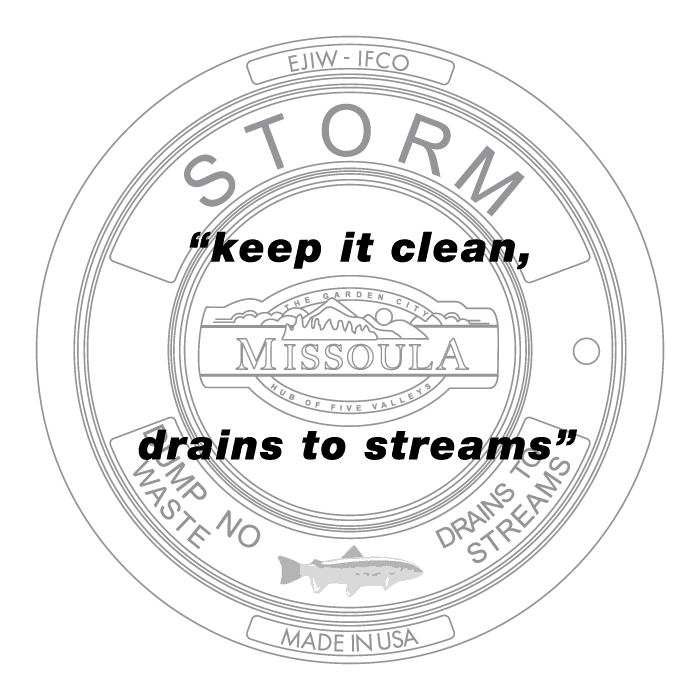 keep it clean, drains to streams