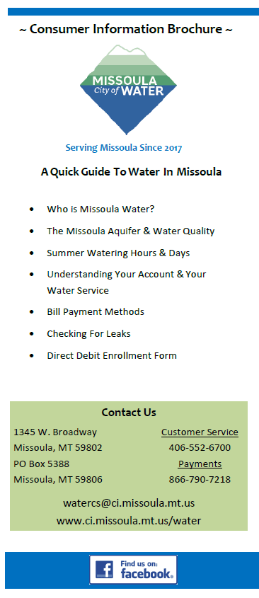 Missoula Water Welcome Brochure