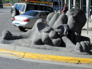 Concrete Cat Statue